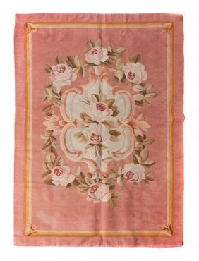 An Aubusson Wool Panel, 4 Feet 7 1/2 Inches X 3 Fee