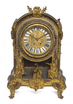 A French Gilt And Boulle Decorated Bracket Clock, H