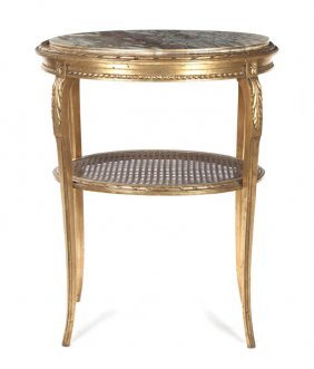 A Louis XV Style Giltwood Occasional Table, Height