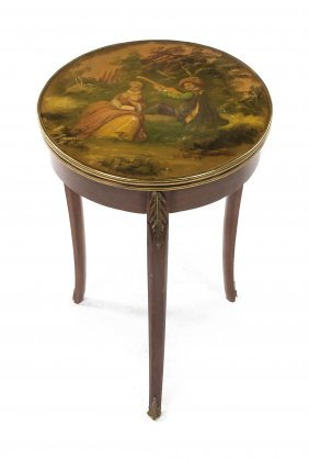 A Louis XVI Style Vernis Martin Mounted Occasional