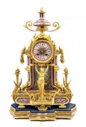 A Louis XVI Style Gilt Bronze And Sevres Style Por