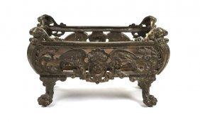 A Neoclassical Gilt Bronze Jardiniere, Width 22 7/