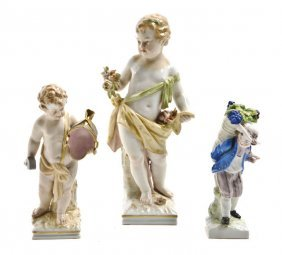 A Collection Of Three Berlin (K.P.M.) Porcelain Fi