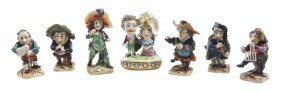 A Collection Of Six Whimsical German Porcelain Fig