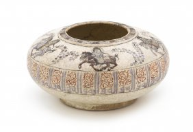A Minai Pottery Money Bowl, Diameter 7 Inches.