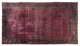 A Sarouk Wool Rug, 13 Feet 1/8 Inches X 21 Feet 1