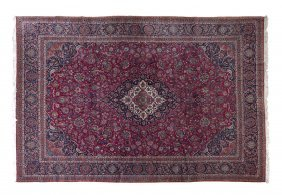 A Keshan Wool Rug, 10 Feet 5/8 Inches X 15 Feet.
