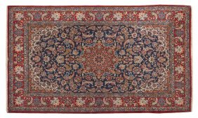 An Isfahan Wool Rug, 5 Feet 10 1/2 X 3 Feet 6 Inc