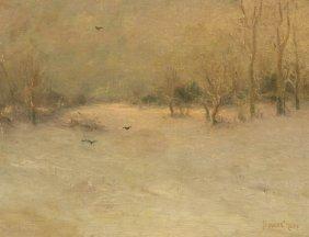 Bruce Crane, (American, 1857-1937), Landscape