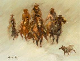George Dick, (American, 1916-1978), Winter Riders