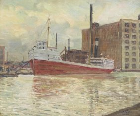 Walter Ufer, (American, 1876-1936), Petrol Boat In