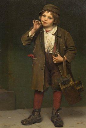John George Brown, (American, 1831-1913), Street Ur