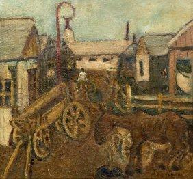 David Bekker, (American, 1997-1955), Horse And Car