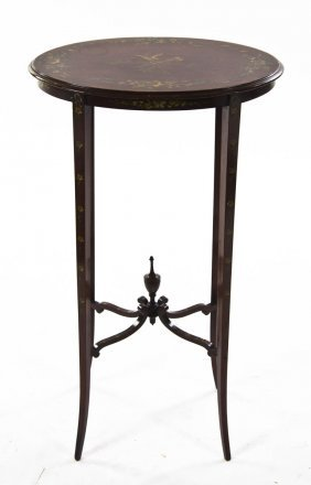 An Edwardian Style Occasional Table, Height 27 1/