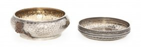 Two American Sterling Silver And Mixed Metal Bowl