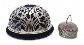 Two American Sterling Silver Pin Cushions, Diamet