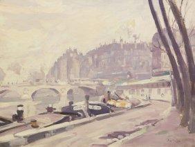 George Oberteuffer, (American, 1878-1940), Les Quai
