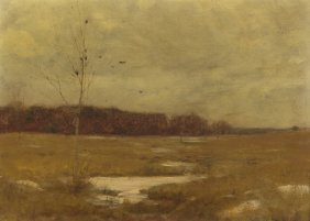 Dwight William Tryon, (American, 1849-1925), Autumn