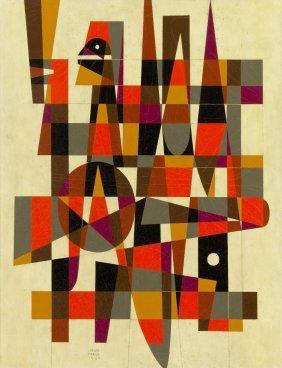 Carlos Merida, (Guatemalan, 1895-1984), Tecum, 19