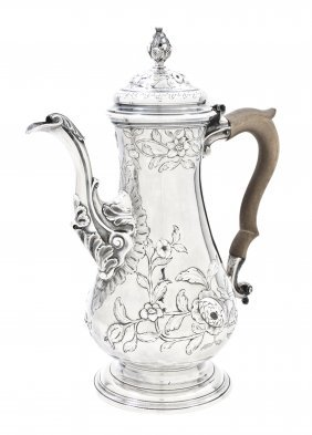 A George III Silver Coffee Pot, Thomas Whipham & Ch