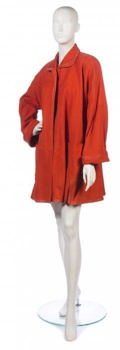 A Christian Dior Orange Leather Jacket,