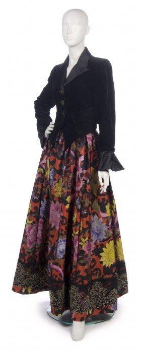 A Christian Lacroix Multicolor Taffeta And Velvet E