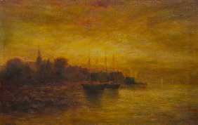 Hudson Mindell Kitchell, (American, 1862-1944), Ship