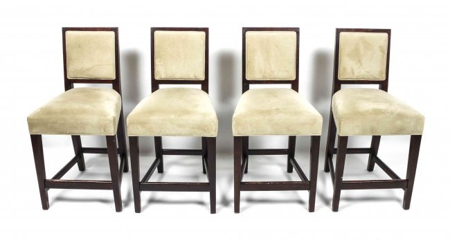 A Set Of Four Counter Height Bar Stools Mitchell Gold