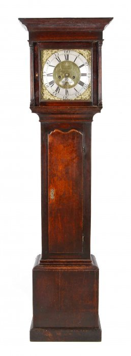 A george iii oak tall case clock height 77 3 4 x width for M furniture gallery new orleans