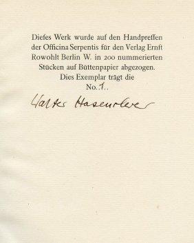 Gedichte An Frauen - Walter Hasenclever - Berlin, 1922