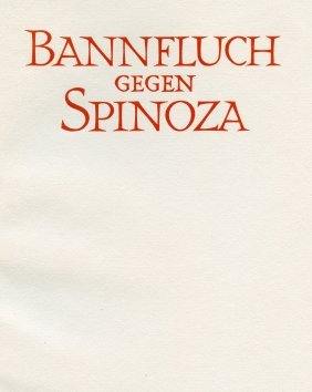 """""""the Ban On Spinoza"""" - Darmstadt, 1925"""