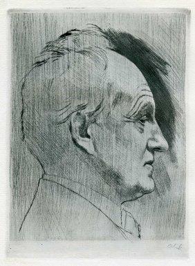 Book About Gerhart Hauptmann - Etching By Emil Orlik -