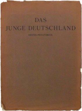 """Three Booklets Of """"das Junge Deutschland"""", 1917-1919 -"""