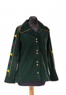 Ata - Bottle-green Corduroy Jacket