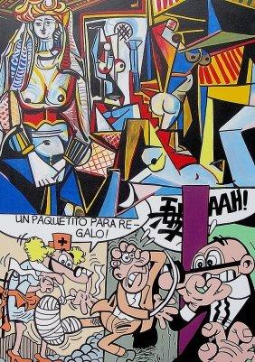 Gudmundur Erro (né En 1932)« Hommage à Picasso