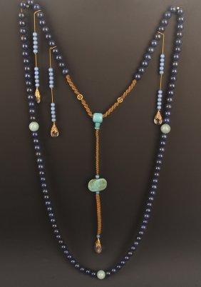 A Fine Lapis Lazuli Court Royal Necklace