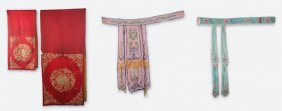 Group Of Fine Chinese Opera Cloth