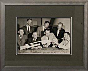 All 7 Mercury Astronauts Autographs Scott Carpenter,