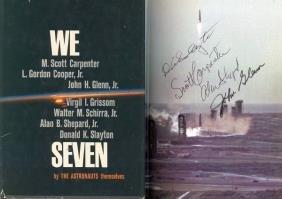 Carpenter Glenn Shepard Slayton Mercury Autographs S