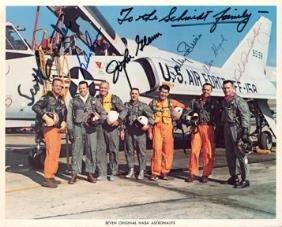 Carpenter, Cooper, Glenn, Schirra, Shepard, Slayton