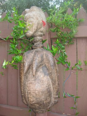 Miraculous Carved Wooden Fertility Goddess Talisman,