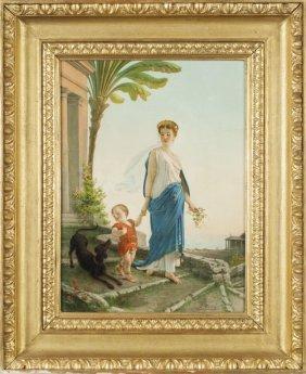 Egisto Sarri (1837-1901) Mamma Con