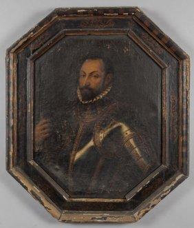 """Scuola Fiamminga Sec.xvii """"ritratto Di Ambrogio"""