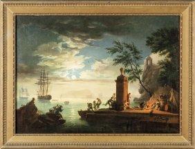 """Claude Joseph Vernet (1714-1789) """"paesaggio"""