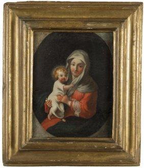 """Scuola Italiana Sec.xviii """"madonna Con Bambino"""""""