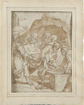 """Luca Cambiaso (1527-1585) """"deposizione Dalla"""