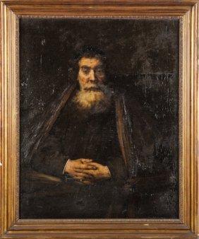 """A.delle Vedove (sec.xix) """"ritratto Di Vecchio"""""""