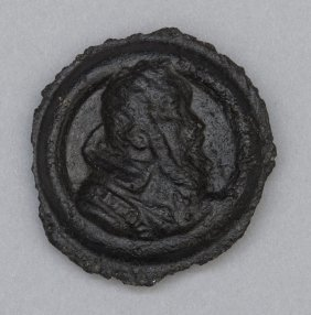 Medaglia Lavica Raffigurante Galileo Galilei,