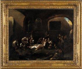 """Scuola Genovese Sec.xviii """"il Pranzo Dei"""