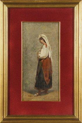 Antonio Varni (1841-1908) Donna Con